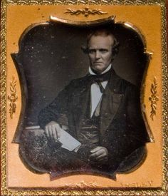 Man Holding NY Sun Newspaper August 2 1851 by Insley Daguerreotype 6th Plate | eBay