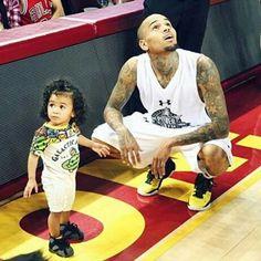 Chris Brown Treats Royalty To A Basketball Game