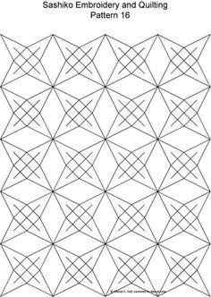 Sashiko Pattern 12: Sashiko Pattern 16