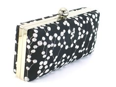 Black and White Bridesmaid Clamshell Clutch  Bridal by BagBoy, $42.00