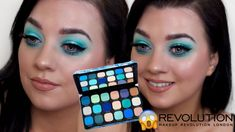 Revolution Forever Flawless Ice Palette Spring Eyeshadow Look 2020 Eyeshadow Looks, Eyeshadow Palette, Revolution Palette, Makeup Lessons, Makeup Videos, Silver Glitter, Eye Makeup, Ice, Make It Yourself