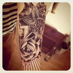 Tattoo by Sarah b Bolen of AKA-Kunst Tattoo #tattoo Love the fine line work!