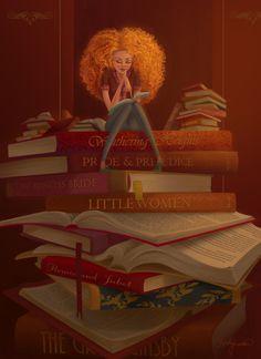 Reading for the weekend / Lecturas para el fin de semana (ilustración de Kristy Lender)
