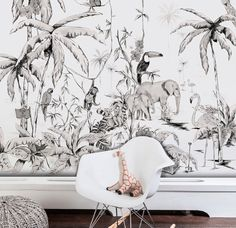 Jungle wallpaper // Annet Weelink Design