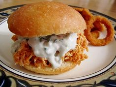Mission: Food: Pulled Buffalo Chicken Sandwiches (with Homemade B...