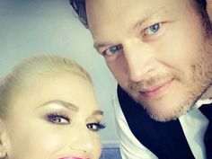 "Blake Shelton and Gwen Stefani's love story played out on ""The Voice"" stage last night. The couple, who got together while working on the hit show, debuted their duet ""Go Ahead and Break My Heart"" from Shelton's upcoming country album, ""If I'm…"