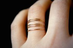 Smooth Gold stacking rings set of 5, 14K gold fill stacking rings, skinny gold stacking ring, smooth gold ring, set of 5 by hannahnaomi on Etsy https://www.etsy.com/listing/223559385/smooth-gold-stacking-rings-set-of-5-14k