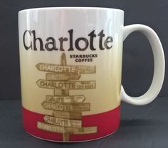 Starbucks Charlotte 2011 Collector Series 16 oz Coffee/Tea Mug #Starbucks