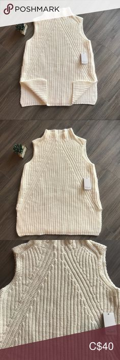 💰⬇️🔥NWT* Sweater Vest knit top side splits M $80 Rails Sweater Vest with side splits Size: Medium  *NWT* $80 + tax White/ cream  Beautiful texture, so soft and lovely   Brand New ✨ 2020 Trends   Pair with jeans or tights, a leather jacket and your favourite heals 👀   Perfect for the spring wardrobe ❤️  I have some cute heals and a vintage clutch that would work great for this outfit   ♻️  Please check out my other items Bundle and save Rails Tops Plus Fashion, Fashion Tips, Fashion Design, Fashion Trends, Vintage Clutch, Winter Wardrobe, Leather Pants, Tights, Sweaters For Women