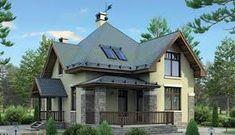 Imagini pentru внешний дизайн домов с мансардой