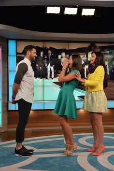 Maks meets a fan on Bethenny TV Show