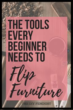 Check out this list of the essential tools every beginner needs to start flipping furniture! This DIY way to stylish, unique furniture is simple and affordable, so see what you need to get started! furniture unique Beginner Tools for Flipping Furniture Selling Furniture, Old Furniture, Recycled Furniture, Refurbished Furniture, Paint Furniture, Unique Furniture, Furniture Projects, Furniture Making, Furniture Makeover