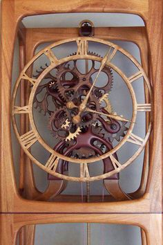 Looks like a giant square wrist watch but it's a wooden Clock.