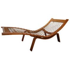 Hans Wegner Chaise Lounge | From a unique collection of antique and modern chaises longues at https://www.1stdibs.com/furniture/seating/chaises-longues/