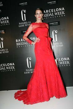 La Top Model Española Madelaine Hjört, desfiló en exclusiva para Cabotine en la Pasarela Barcelona Bridal Week 2013. Imagen cedida por BBW.