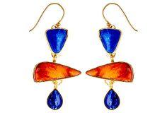 Spiny Oyster Triple Drop Earrings  Heather Benjamin Jewelry