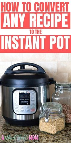 instant pot recipes Are you trying to figure out how to make your favorite recipes in the Instant Pot? This guide will show you how to adapt MOST recipes for the Instant Pot. Power Pressure Cooker, Instant Pot Pressure Cooker, Pressure Cooker Recipes, Slow Cooker, Pressure Pot, Using A Pressure Cooker, Best Instant Pot Recipe, Instant Recipes, Instant Pot Dinner Recipes