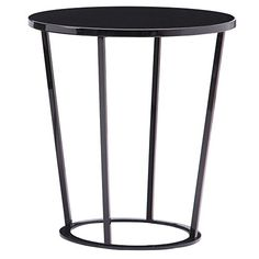 Bellini Modern Living Massa Black Wood and Lacquer and Metal and Iron End Table