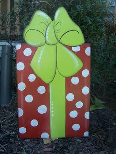 Christmas Present Yard Art, Garden Art, By Shirleys Treasures