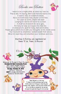 Inside of Baby Shower Invite