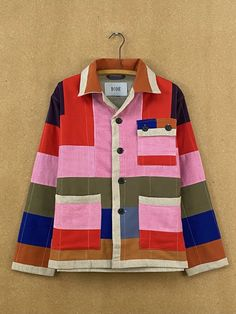 Canvas Cord Workwear Jacket – BODE New York Corduroy, Cotton Canvas, Work Wear, Textiles, Beige, Fabric, How To Wear, Jackets, Fashion
