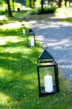 Lantern At Outdoor Wedding