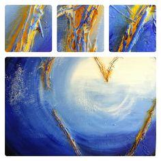 Schilderij Engels hart | de totstandkoming - verf | voor het eindresultaat zie: http://marloesvanzoelen.nl/schilderijen/engels-hart/?