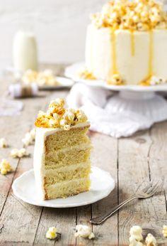 Salted Caramel Popcorn Cake.