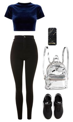 """Sem título #2309"" by lindsay-woods on Polyvore featuring moda, Topshop e Y-3"