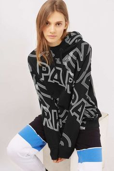 Ivy Park Zip Through Hoody oversized Sz S