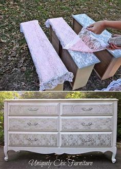 Coloca la tela; pinta y luego retira y te queda un original placar
