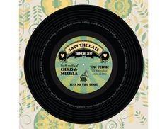 Vinyl Music Record Album Save the Date for wedding by KissyCrafts, $31.50