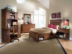 Lea Elite Crossover Slat Bedroom in Cherry