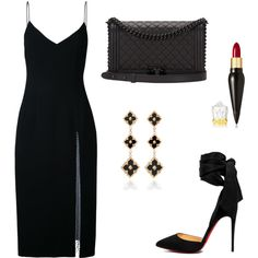 Untitled #388 by cxndai on Polyvore featuring moda, Christopher Esber, Christian Louboutin, Chanel and Buccellati