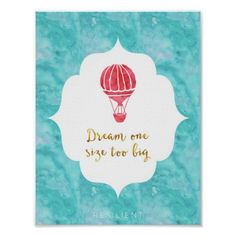 Dream One Size Too Big Art Print by Resilient Positive Quotes, Motivational Quotes, Inspirational Quotes, Positive Vibes, Dream Quotes, Life Quotes, Joy Quotes, Believe In Yourself Quotes, Balloon Illustration
