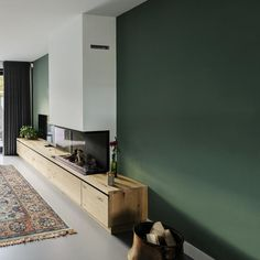 Houtmerk - Maatwerk Haardmeubel of TV meubel - massief hout Living Room Inspiration, Interior Inspiration, New Living Room, Living Spaces, Oval Room Blue, Tv Shelf, Home Projects, Home And Family, Sweet Home