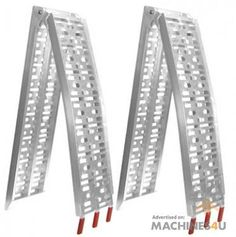 Klika Heavy Duty Aluminium trailer ramps - http://www.machines4u.com.au/browse/Farm-Machinery/Ramps-Loading-170/Ramp-894/