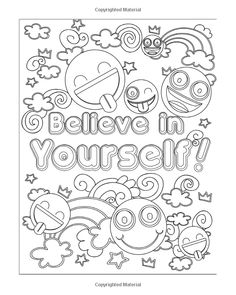 Emoji Coloring Book for Girls: 50 Super Fun and Amazing Inspirational Quotes, Cute Animals and Emoji Coloring Activity Pages for Kids, Girls, Teens and Adults Emoji Coloring Pages, Love Coloring Pages, Printable Adult Coloring Pages, Doodle Coloring, Coloring Pages For Kids, Coloring Books, Coloring Sheets, Bullet Journal, Doodle Pages