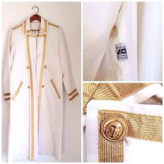 Vintage Mod Hippie Trench Coat // Cream and by RoryLaRueVintage, $38.00