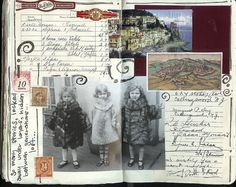 looks like grandma's old scrapbook Art Journal Pages, Art Journals, Kunstjournal Inspiration, Art Journal Inspiration, Altered Books, Altered Art, Heritage Scrapbooking, Glue Book, Smash Book