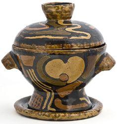 Anne Dangar (Australia, 1887 - France, 1951) soup terrine, glazed earthenware, 1936. Musée des Arts décoratifs, Paris