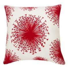 Seed Pillow in Red & White.