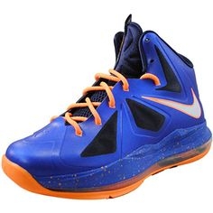 NIKE Lebron X (GS) Superhero Pack (Hypr Blue/Pr Pltnm-Blcknd Bl-Brg) (6.5Y GS) Sports Footwear, Pure Platinum, Nike Kids, School Colors, Nike Lebron, Air Jordans, Sneakers Nike, Superhero, Orange