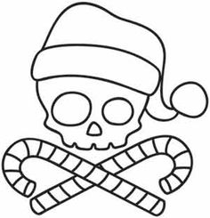 Embroidery Designs at Urban Threads - Santa Skull