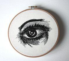 RIDICULOUSLY awesome. #embroidery via http://www.etsy.com/shop/Samskiart