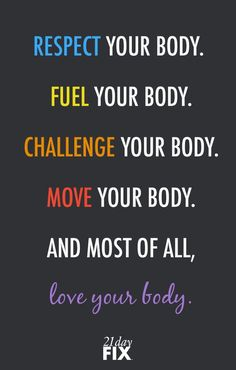 Respect your body enough to give it the LOVE it deserves!