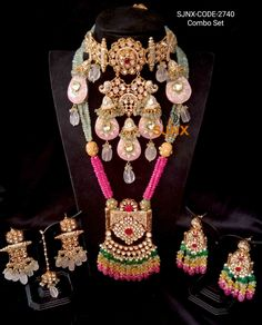 Kundan Jewellery Set, Fancy Jewellery, Indian Jewellery Design, Stylish Jewelry, Fashion Jewelry, Jewelry Design, Indian Wedding Jewelry, Indian Jewelry, Abstract Nouns