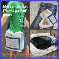 Messenger Bag from jeans - an upcycle tutorialCreating my way to Success: