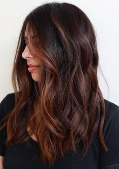 Long Chestnut Balayage Hair color chocolate 60 Chocolate Brown Hair Color Ideas for Brunettes Brown Hair Auburn Highlights, Auburn Balayage, Brown Balayage, Hair Color Balayage, Mahogany Highlights, Subtle Highlights, Chestnut Highlights, Caramel Highlights, Copper Balayage Brunette