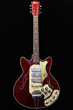 Coronet Semi-Hollow Red de 1960's | Guitare Collection